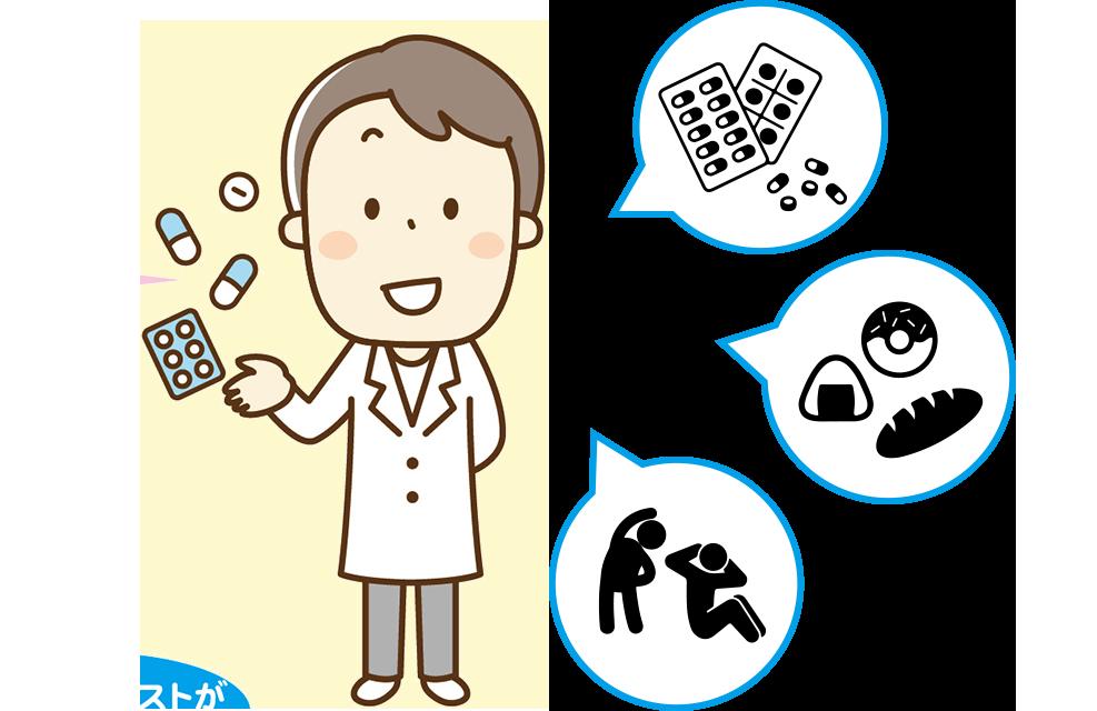 薬局本来の仕事と健康相談の仕事